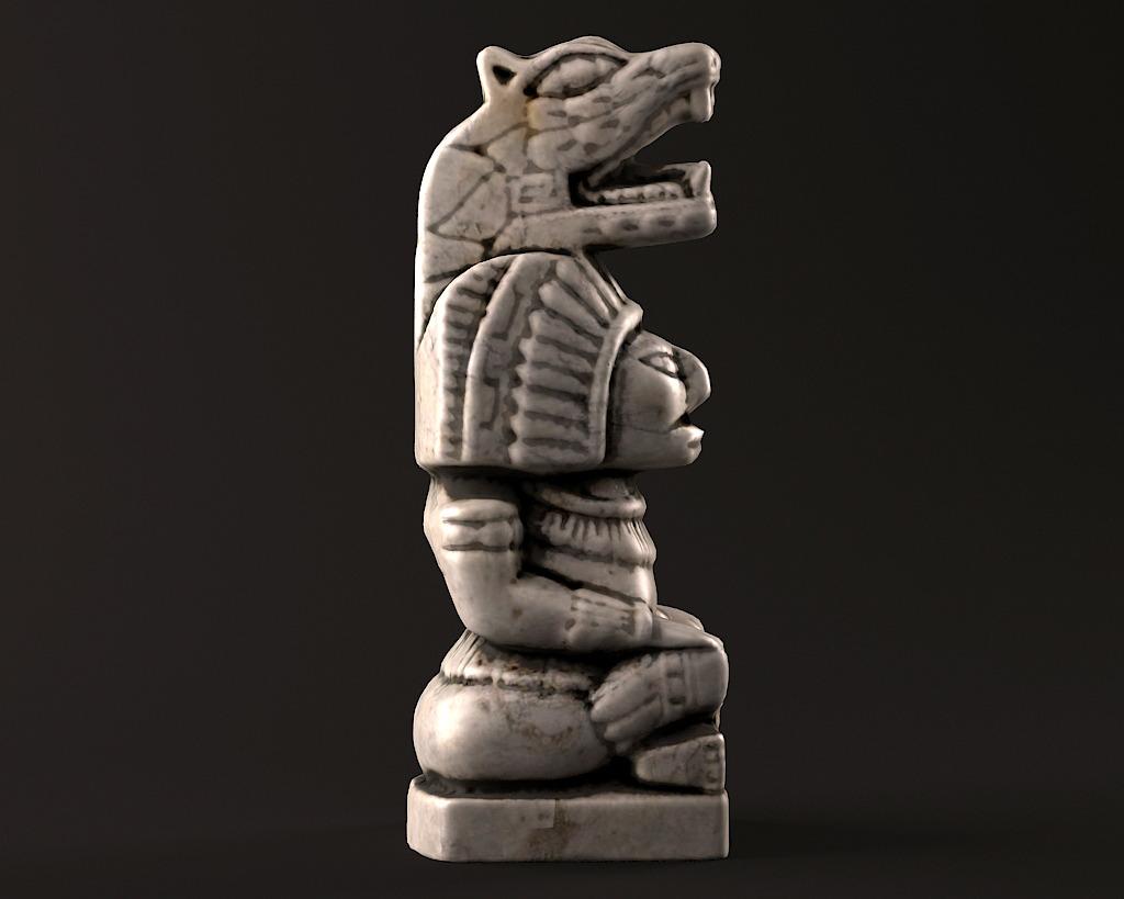 Mayan Warrior Statue By Lruben 3docean