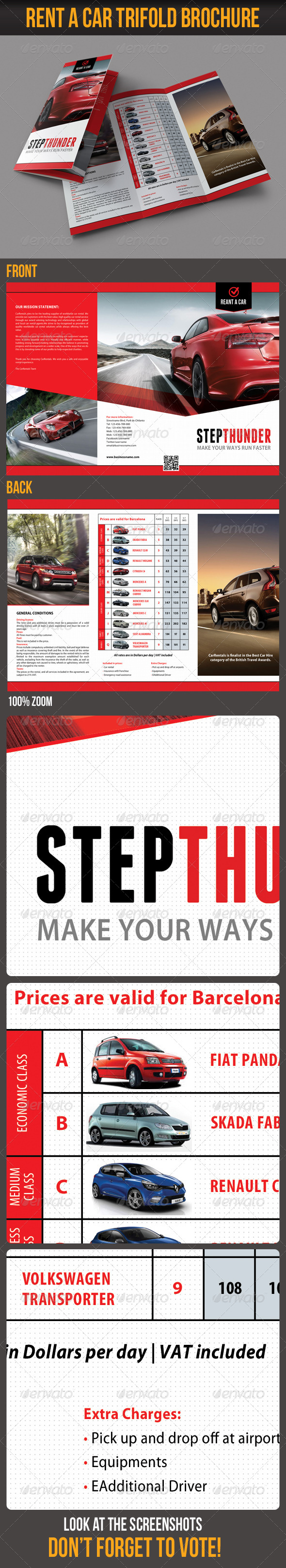 GraphicRiver Rent A Car Trifold Brochure 5501308