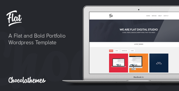 ThemeForest Flat Studio Responsive One Page WordPress Theme 5505176