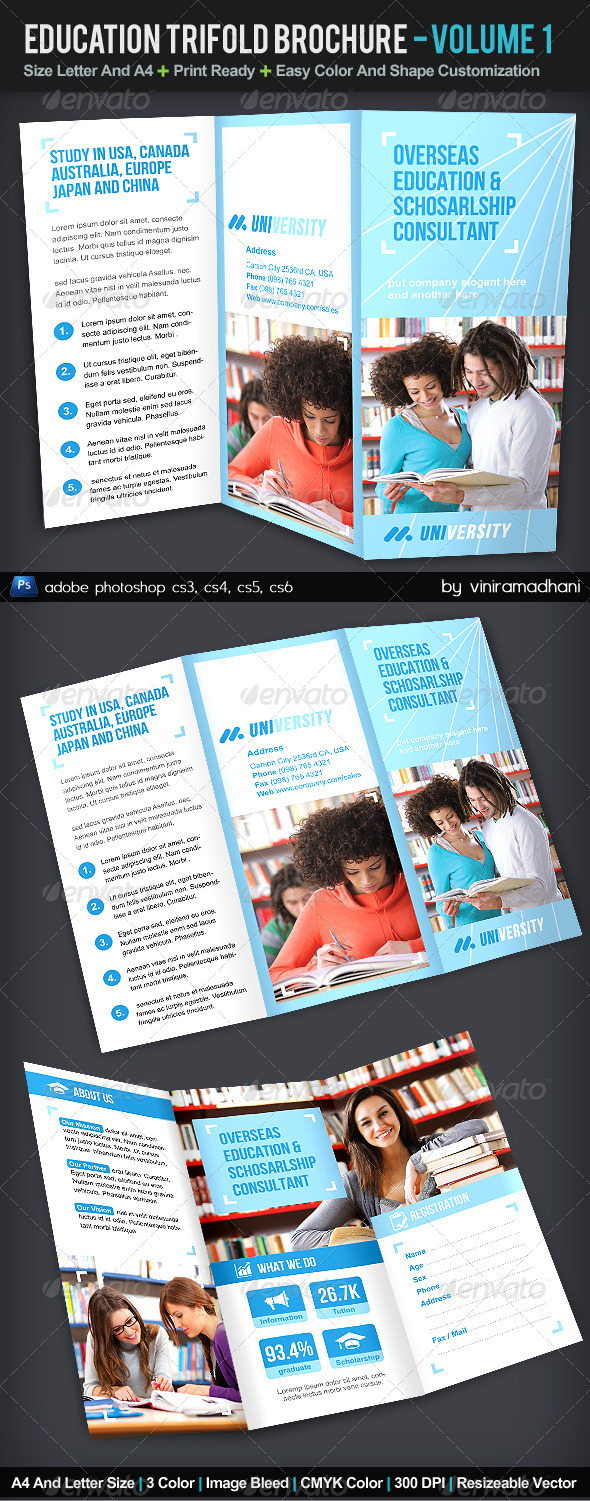 GraphicRiver Education TriFold Brochure Volume 1 5522018