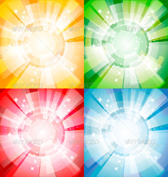 GraphicRiver Bright Background with Rays 5522146