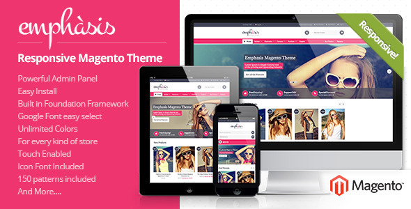 ThemeForest Emphasis Multipurpose Responsive Magento Theme 5503789