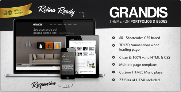 Grandis - Responsive Multi-Purpose HTML Template