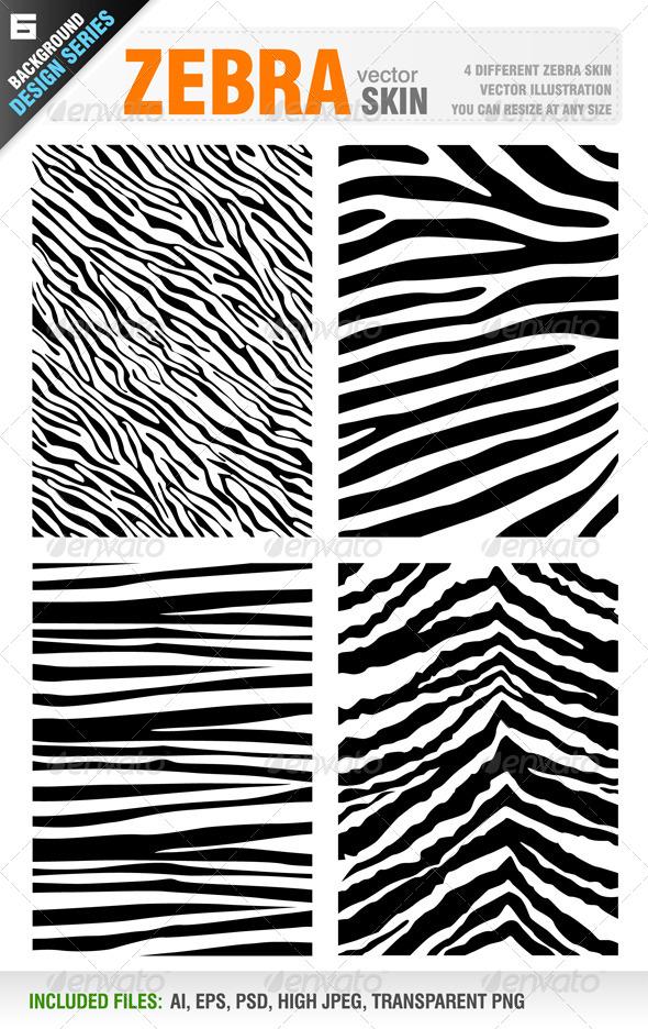 GraphicRiver Zebra Skin Set 5522249