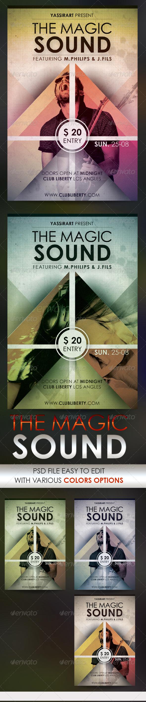 GraphicRiver Magic Sound Flyer Template 5522275