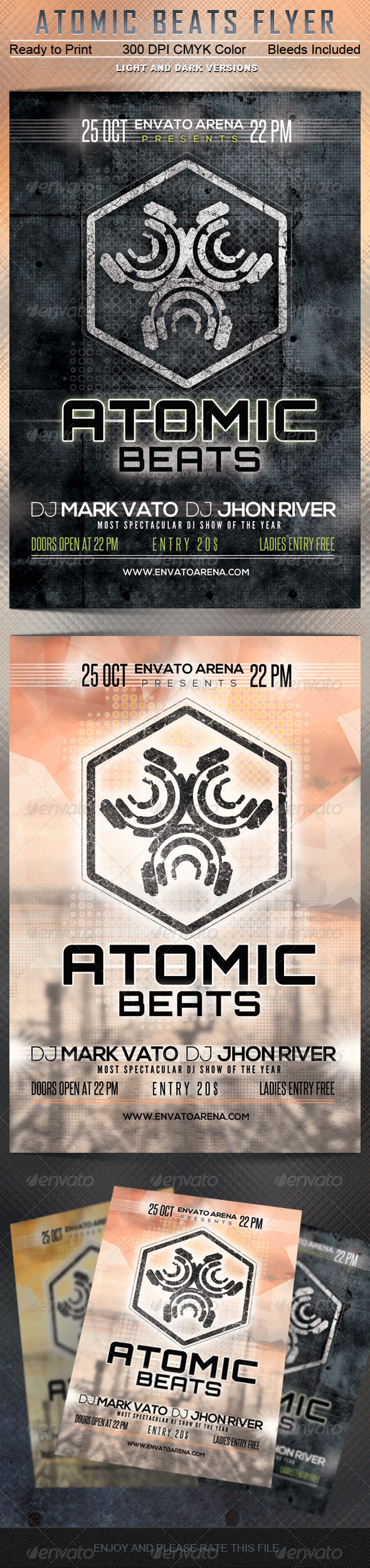 GraphicRiver Atomic Beats Flyer Template 5522318