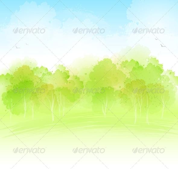 GraphicRiver Watercolor Landscape 5522331