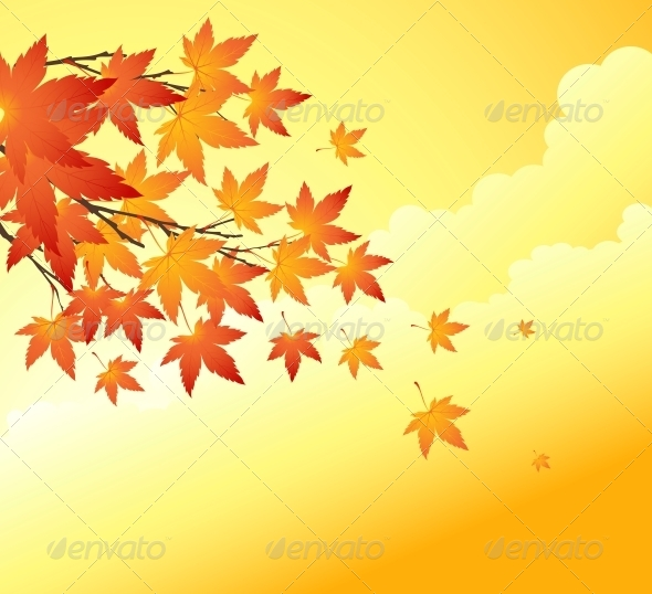 GraphicRiver Fall Leaves Abstract Background 5522365