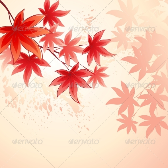 GraphicRiver Fall Leaves Abstract Background 5522368