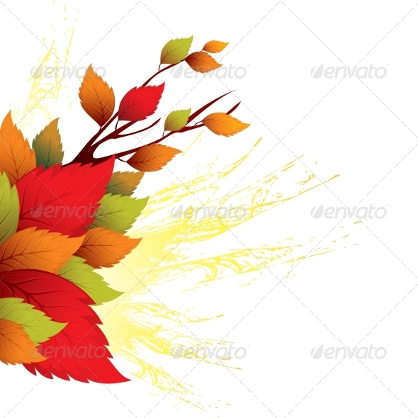 GraphicRiver Fall Leaves Abstract Background 5522373