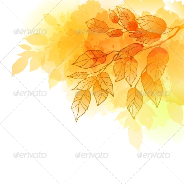 GraphicRiver Fall Leaves Abstract Background 5522375
