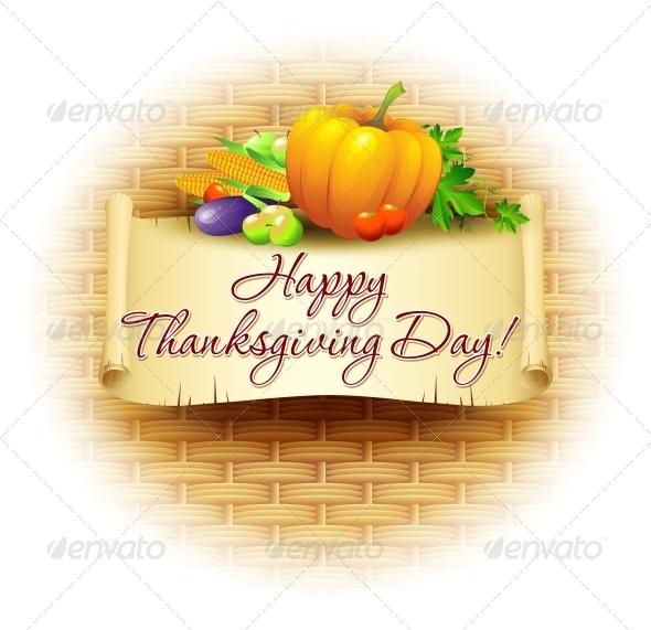 GraphicRiver Thanksgiving Background Vector Illustration 5522382