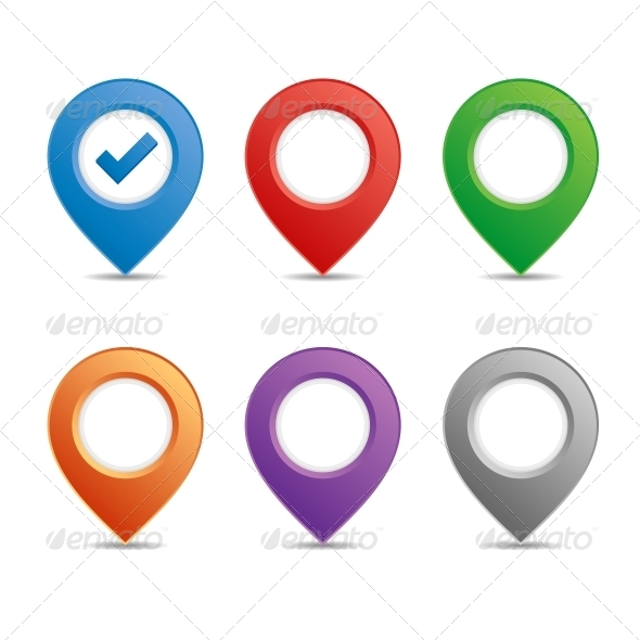 GraphicRiver Color Pin Set 5522513