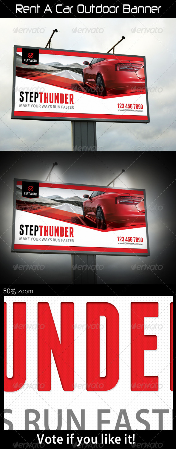 GraphicRiver Rent A Car Outdoor Banner 5522527