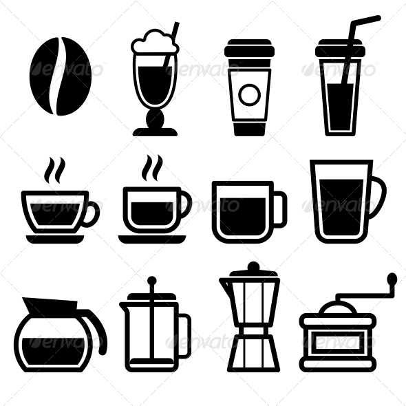 GraphicRiver Coffee Drinks Icons 5522552