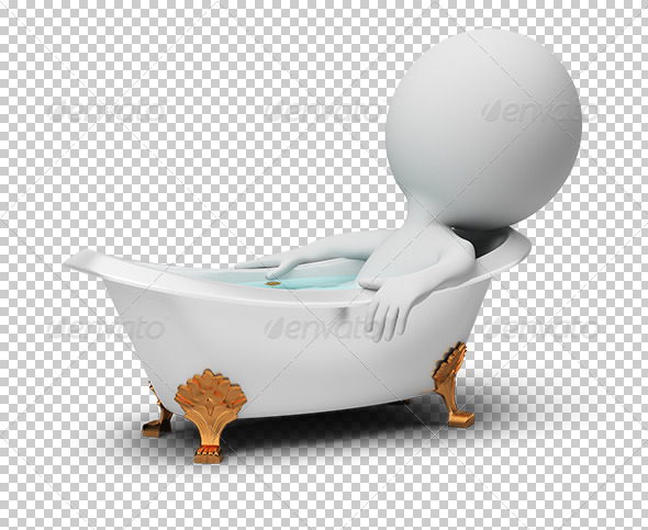 GraphicRiver 3D small people in a bath 5522613