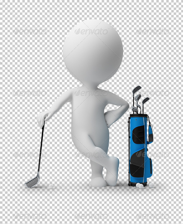 GraphicRiver 3D small people golf 5522627