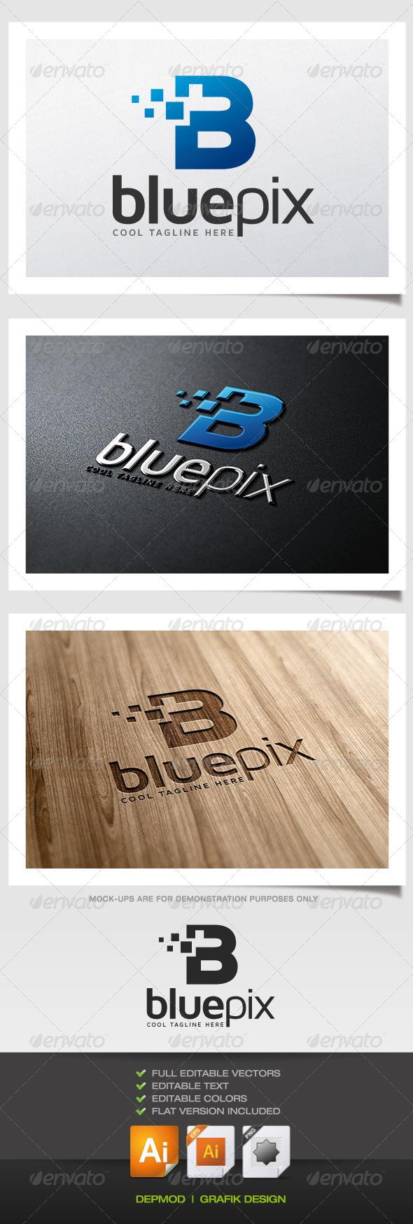GraphicRiver Blue Pix Logo 5522650