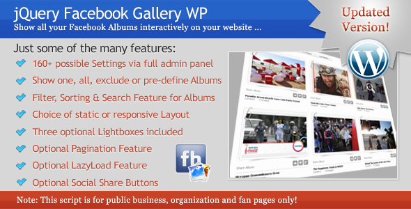 CodeCanyon jQuery Facebook Gallery WP 5490143