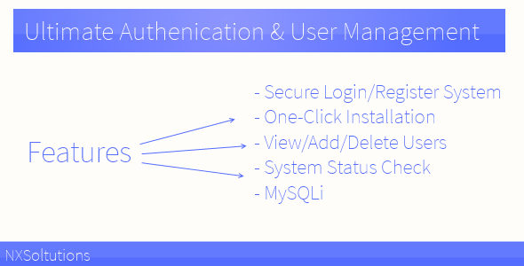 CodeCanyon Ultimate Authenication & User Management 5487766