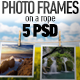 Photo Frames on a Rope - GraphicRiver Item for Sale