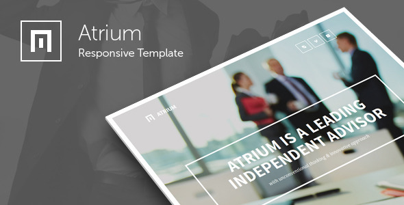 ThemeForest Atrium Responsive Corporate One Page Template 5522678
