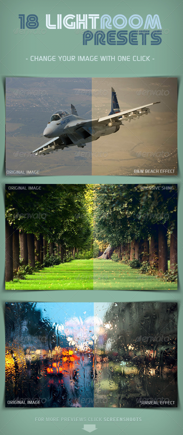GraphicRiver 18 Random Lightroom Presets 5522716