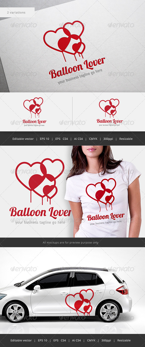 GraphicRiver Balloon Lover Logo 5522743