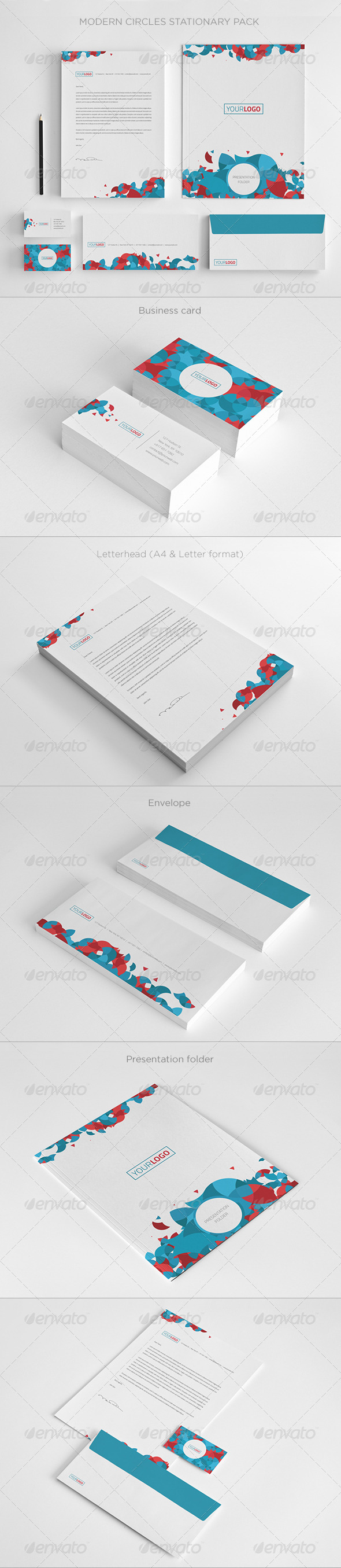 GraphicRiver Modern Circles Stationary 5522773