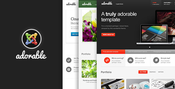 Adorable- Multipurpose Joomla Template