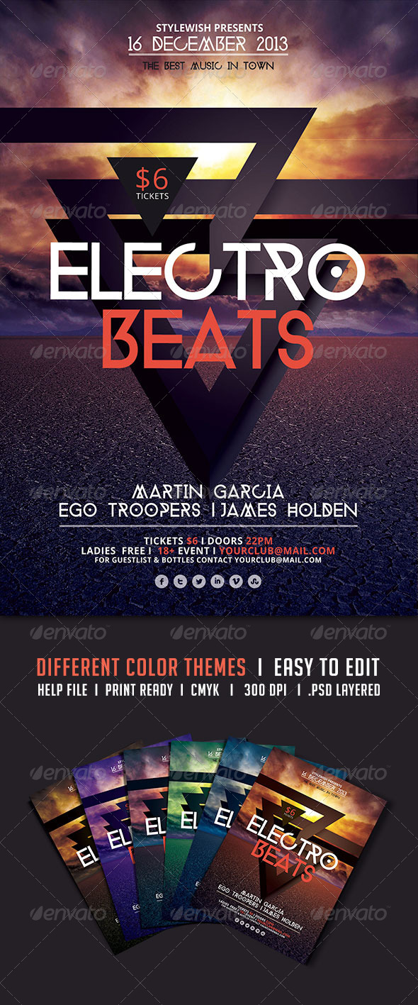 GraphicRiver Electro Beats Flyer 5522778