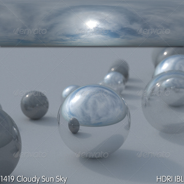 HDRI IBL 1419 Cloudy Sun Sky - 3DOcean Item for Sale