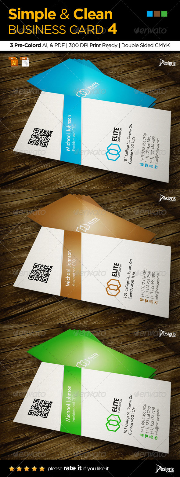 Simple and Clean Business Card 4 - Business Cards Print Templates