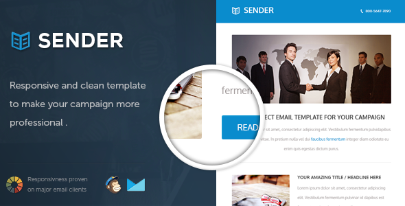Sender - Responsive Email Template