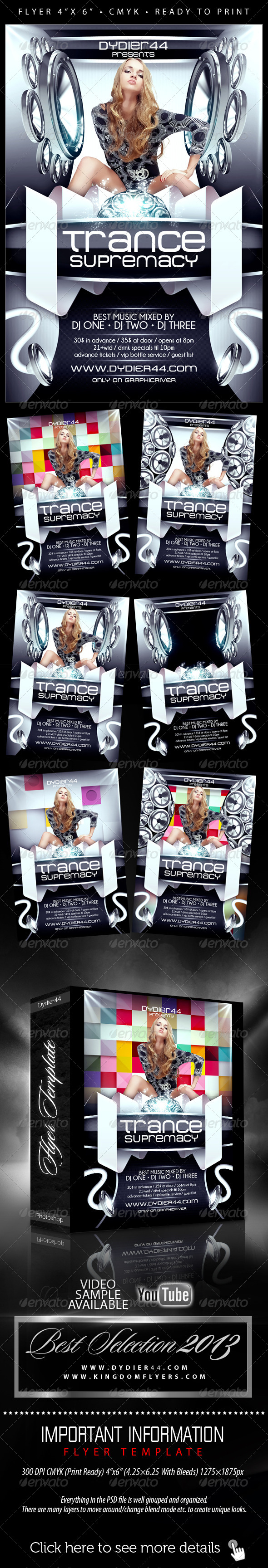 GraphicRiver Trance Supremacy Flyer Template 4x6 5522999