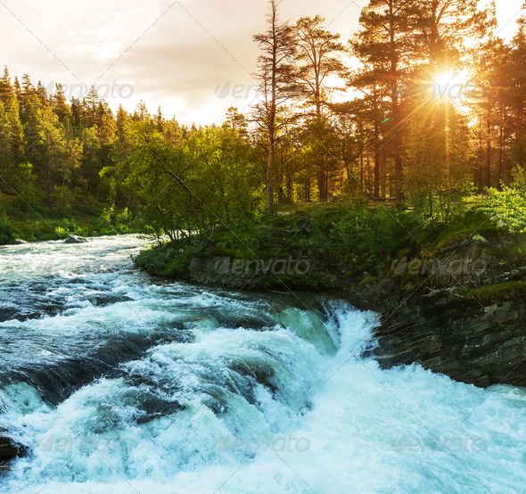 River in Norway - Stock Photo - Images
