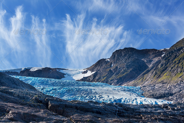 Glacier in Norway - Stock Photo - Images