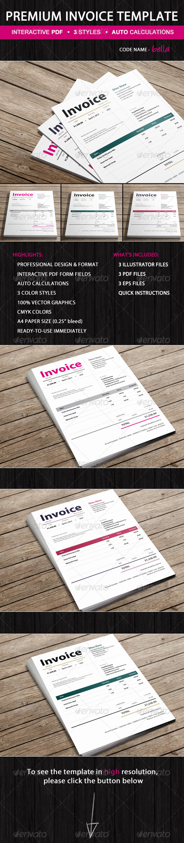 GraphicRiver Invoice 5523323