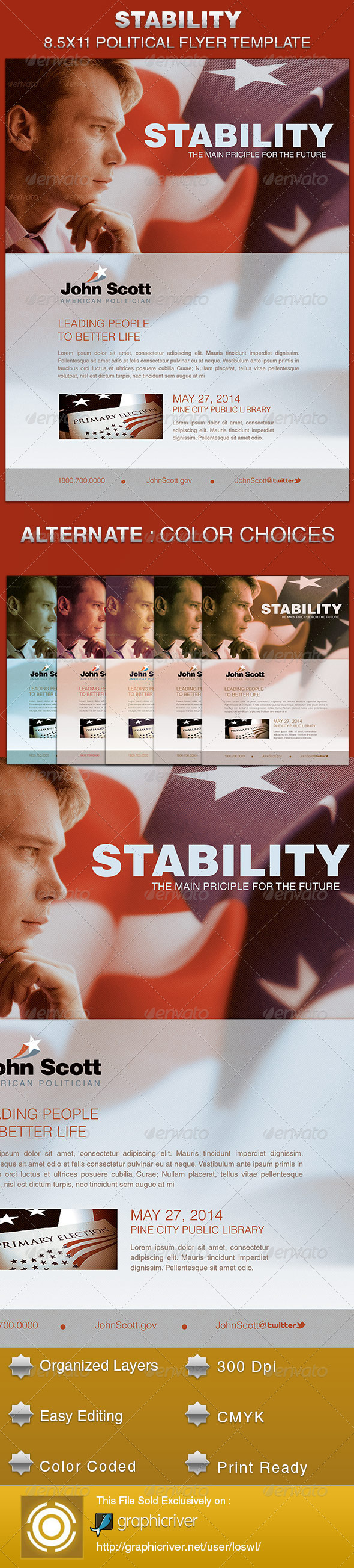 GraphicRiver Stability Political Flyer Template 5523338