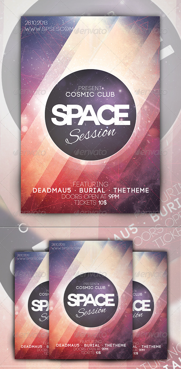 Space Session Flyer - Events Flyers