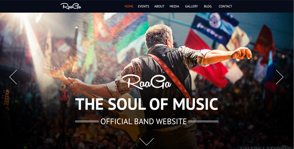 ThemeForest Raaga Responsive Parallax Template for Bands 5523418