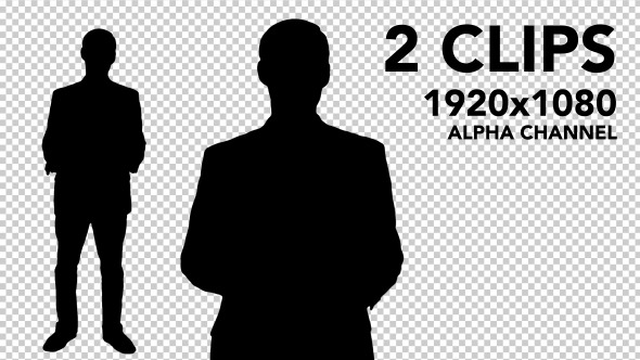 VideoHive Businessman Silhouettes 2 Pack 5523419