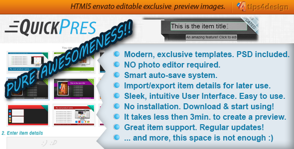 QuickPres - Item Preview Image Editor - CodeCanyon Item for Sale