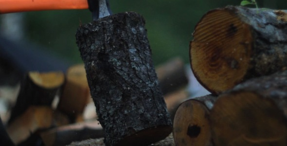 VideoHive Chopping Firewood 5523812