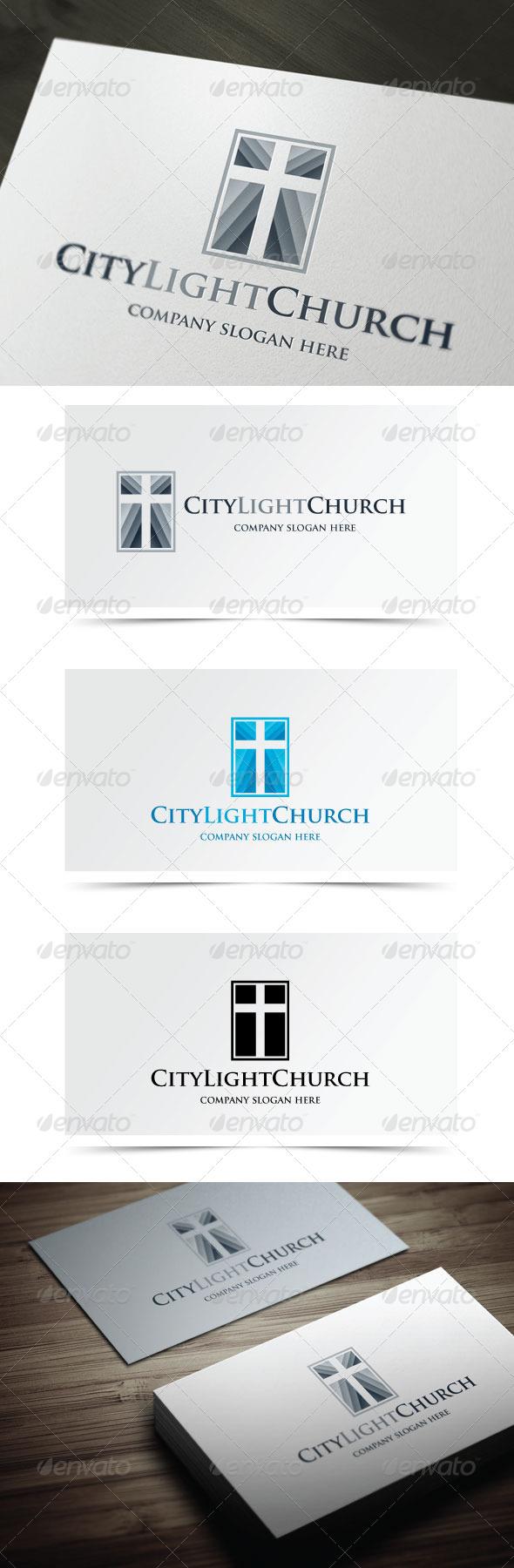 GraphicRiver City Light Church 5524061