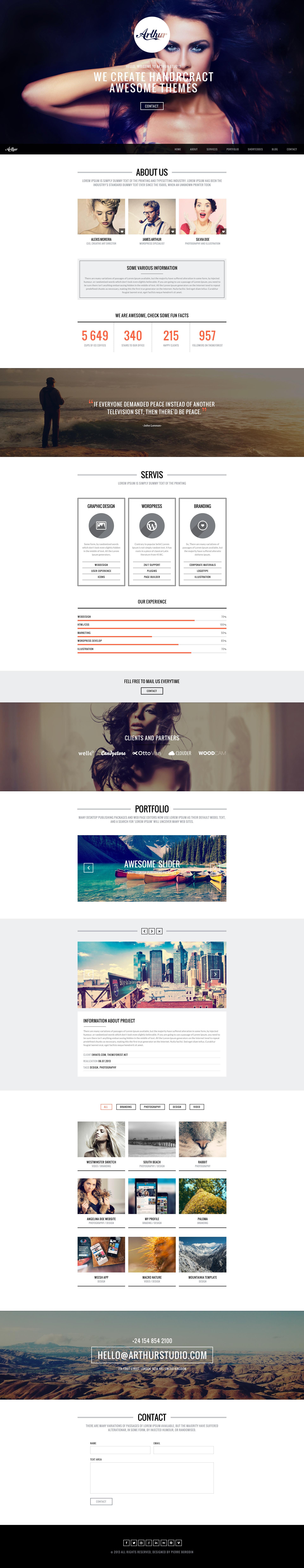 Arthur - PSD parallax portfolio