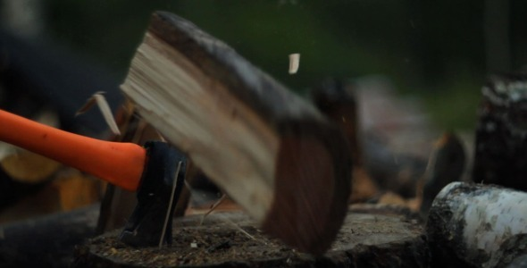 VideoHive Chopping Firewood 5524108