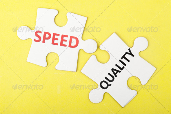 Speed versus quality - Stock Photo - Images