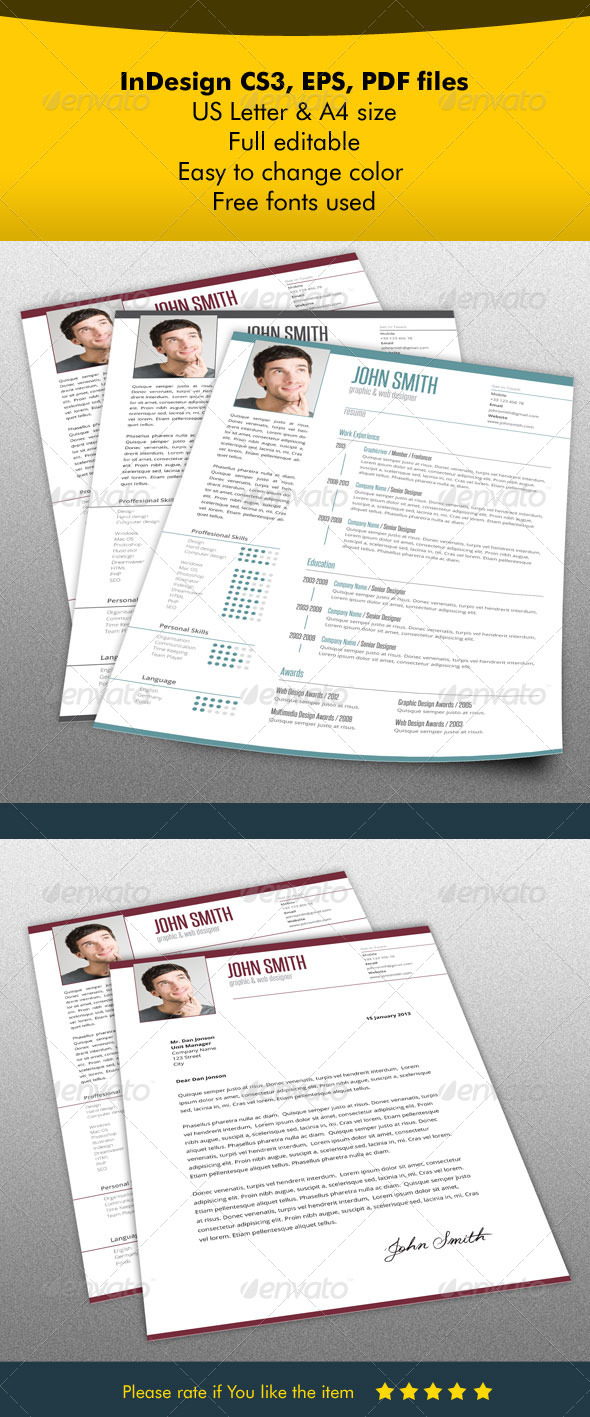Resume & Letter Bundle - Resumes Stationery