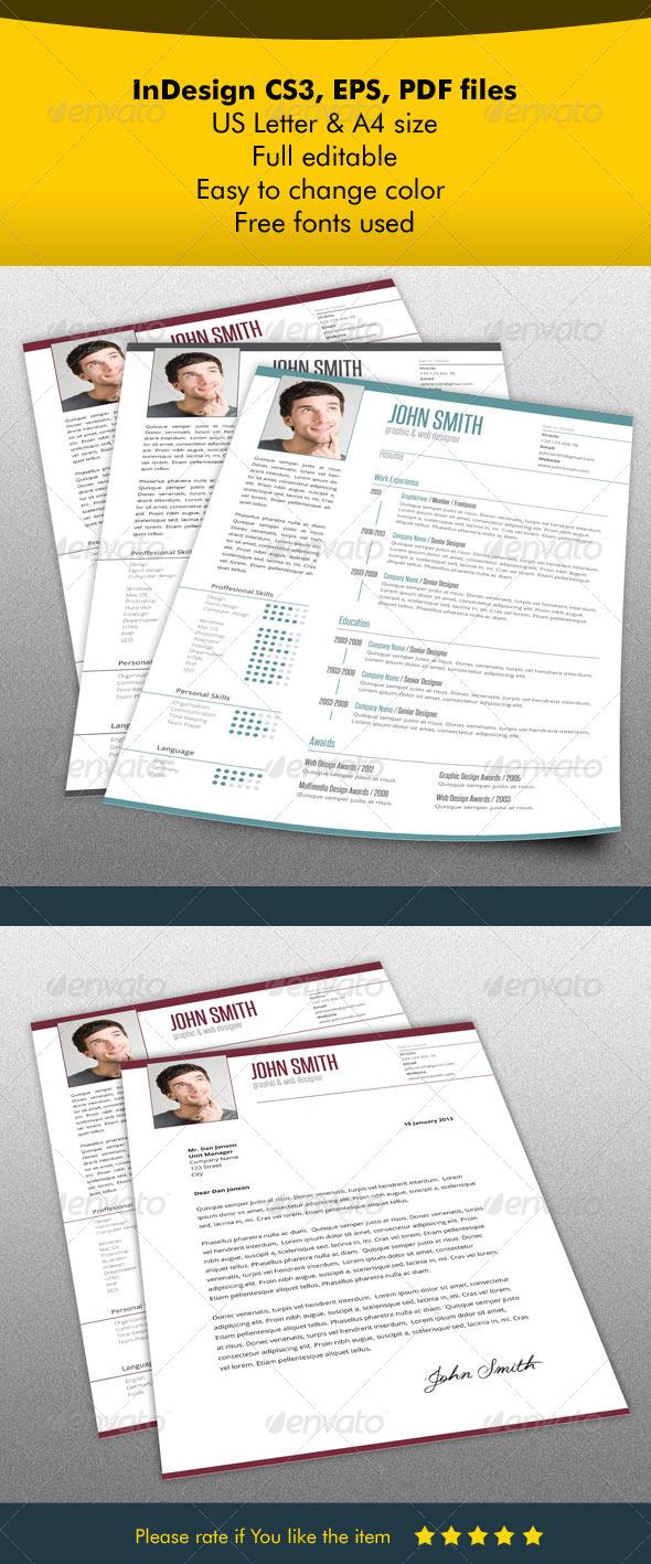 GraphicRiver Resume & Letter Bundle 5524652
